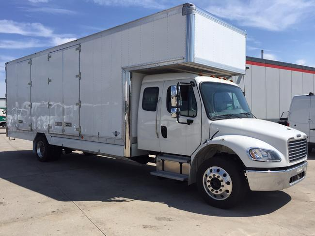 """2022 Freightliner M2 - 5 man extended cab<br> 260HP Detroit DD8<BR> Allison automatic transmission<BR>Air ride and Air brakes<BR>26' Kentucky body with oversized 6' attic<BR>2 curbside and 1 roadside doors<br>Melcher 1230 walkboard<BR>Translucent fiberglass roof with liner<BR>Mirror finished stainless steel overlays <br>16"""" side post spacing with white vinyl lining<br>Full spray on undercoating in addition to pre-treatment<br>Polished aluminum wheels<BR>Reserve now for early fall completion!"""