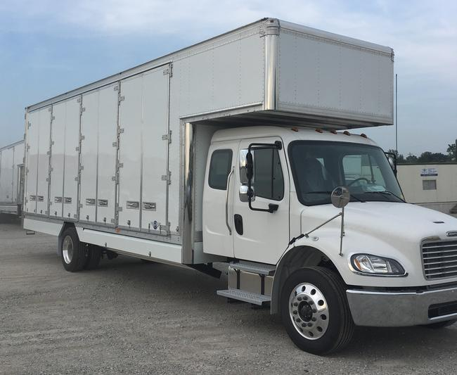 26' Kentucky 4 door pallet van with 6' attic<br>2020 Freightliner 5 man extended cab M-2<br> 260HP Detroit DD8 diesel<BR>Low profile tires<BR> Polished aluminum wheels and chrome bumper<br>Air ride and Air brakes<BR>Allison automatic<BR>Mirror Finished stainless steel overlays<br>Melcher 1230 walkboard. <br>Scheduled for completion in late March!