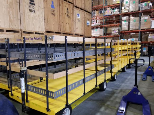 Valley Craft Carts , 4,000@ Capacity, Steer On Both Ends, Removable Sides X 4 With E Track - 120&Quot; Long X 60&Quot; Wide X 72&Quot; Tall. We Also Have Electric Pullers. Will Stack To Ship. Perfect For Plant Moves. Located In Kansas City (18)